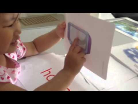 Jaja reads flash cards. #2