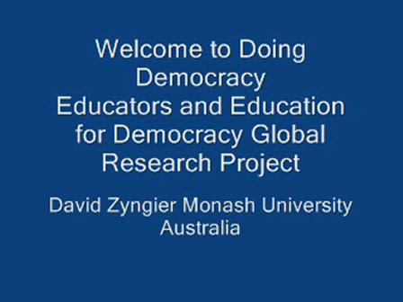 Doing Democracy Welcome
