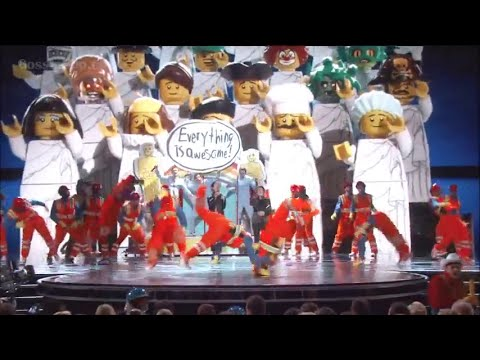 Everything Is Awesome Oscars 2015  LEGO Movie Oscar Performance