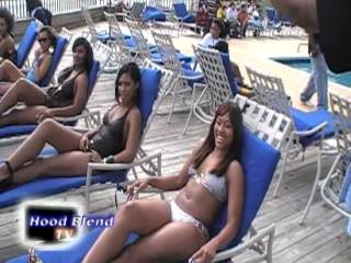 """Hood Blend TV """"Core Model's"""" & """"Core Dj's Retreat"""" Pool Party Hosted by Saxx Attack"""