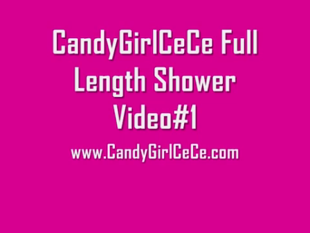 CandyGirlCeCe Full Length Shower Video 1 www