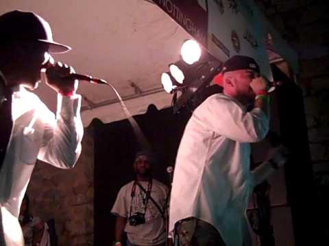 Rapper Big Pooh, Joe Scudda, Chaundon, Jozeemo @ A3C Showcase 2010