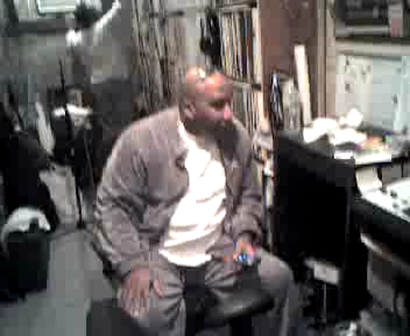"""DJ JAZZY JAY"", ""M.C. WAR FLATTOP"", ""DIGIT AL"", IN THE RECORDING STUDIO WORKING ON FLATTOP TRACK - PART # 7"