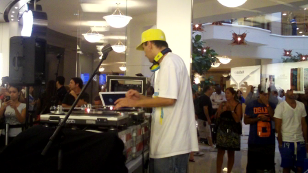 DJ NVS Styles at Ace Hood Show Apple Store