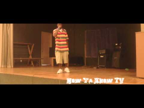 "Young-D performing ""Fresh Out A Magazin"" live for J Live Ent. talent show"