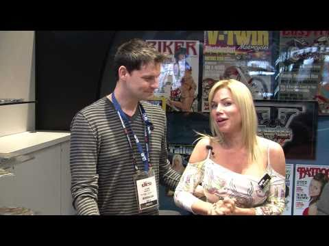 Angie From Easyriders TopLess Tech Talks with Two Wheel Thunder TV
