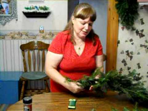 Making A Real Fir Garland