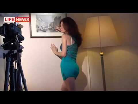Russian Spy Anna Chapman sexy photo session in Moscow