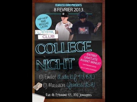 Drop DJ Emiliot Mystik Club - DJ Massacre's College Night