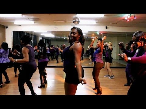 Big Thang 4 Big Girls Line Dance Music Video w/ TLDQ and TRC