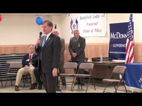 Bob McDonnell & Republican Ticket Endorsed by FOP