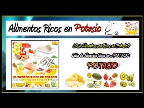 Lista de Alimentos Ricos en Potasio, Frutas con Potasio, Comidas Ricas en Potasio