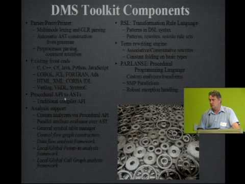 DMS: Software Tool Infrastructure