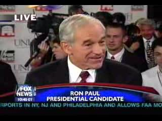 Ron Paul shoots down sean hannity and his dis info