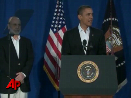 Obama Reappoints Bernanke