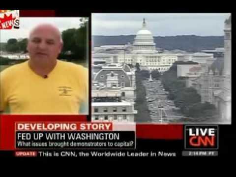 CNN Anchor Schooled by DC Rally Organizer Al Garheart from OK
