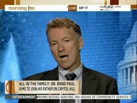 Rand Paul on MSNBC's Morning Joe 9/17