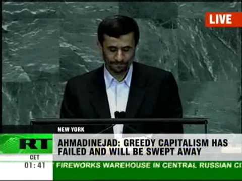 Ahmadinejad speech at UN