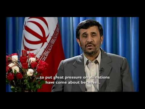 Ahmadinejad 2008 Christmas Message