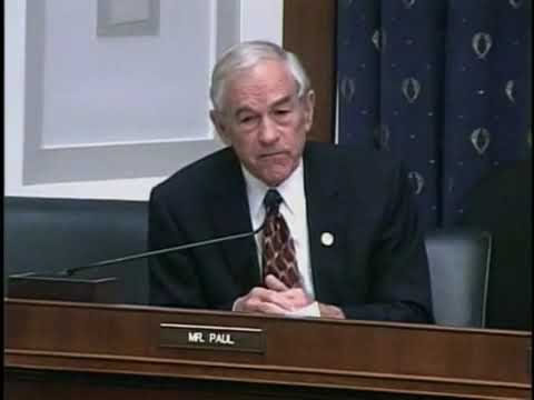 Ron Paul at Financial Services Hearing 11/04