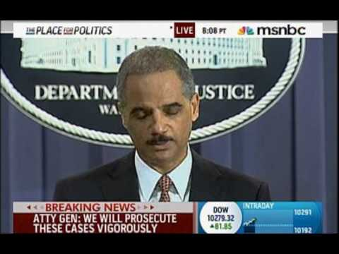 NWO Puppet Eric Holder-9/11 Patsy's Will Stand Trial