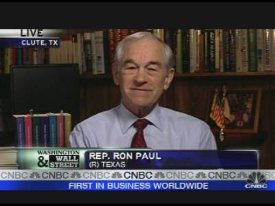 Ron Paul on CNBC's Squawk Box Monday Morning 1/25/10: Future of the Fed