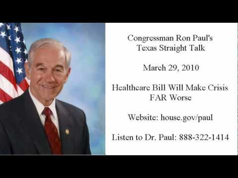 """Ron Paul: The """"Right"""" to Healthcare is Based on Theft and Coercion"""