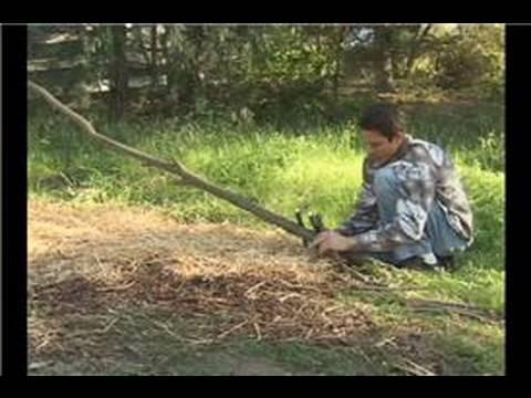 How to Build a Debris Hut : How to Build a Debris Hut: Building the Ribbing