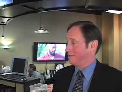 Alex Ansary questions Dan Saltzman in Portland, Oregon