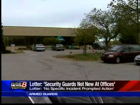 Indiana arms unemployment office guards