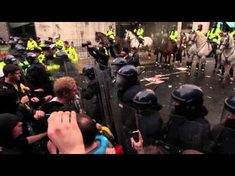 Merrion Row Clashes -  Dublin November 3rd 2010 HD