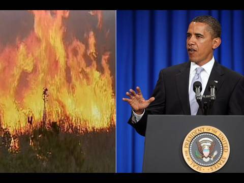 Obama To Enter Diplomatic Talks With Raging Wildfire