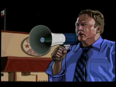 "Alex Jones in ""A Scanner Darkly"""