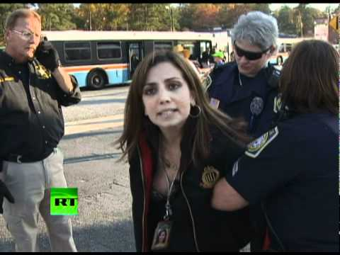 Eye Witness Footage of RT press memebr being Arrestead