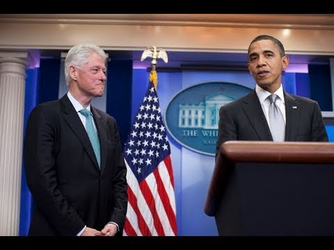 Press Briefing with President Obama and President Clinton