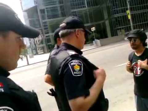 """This aint Canada anymore, ""there is no civil rights"" cop says on record-G20 Toronto"