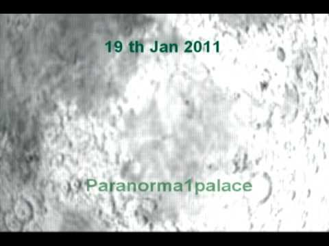 BLACK TRIANGLE UFO CROSSES LUNAR SURFACE JAN 2011