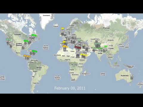 Global Protests & Uprisings Maps Time-Lapse