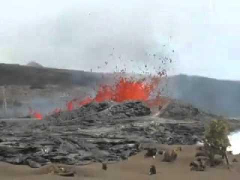 Hawaii - Kamoamoa Fissure Eruption - March 22, 2011