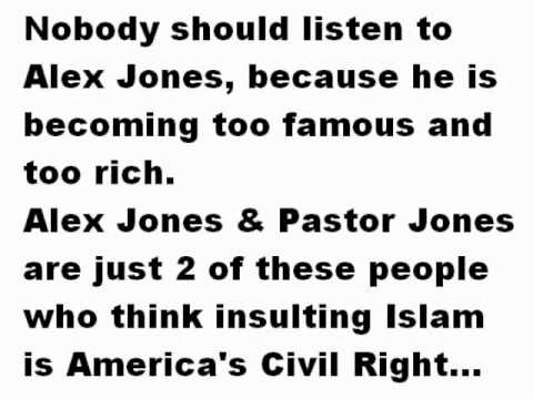 Infowars Alex Jones says burning The Quran is an American Right