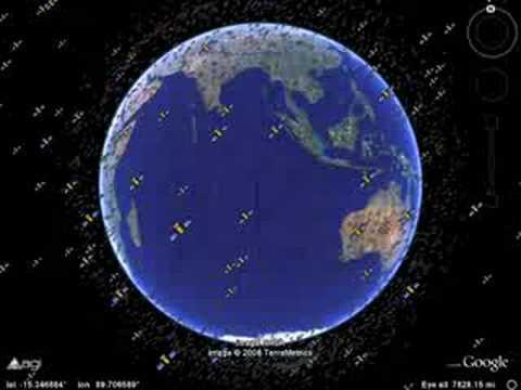 13,000 Satellites in Google Earth