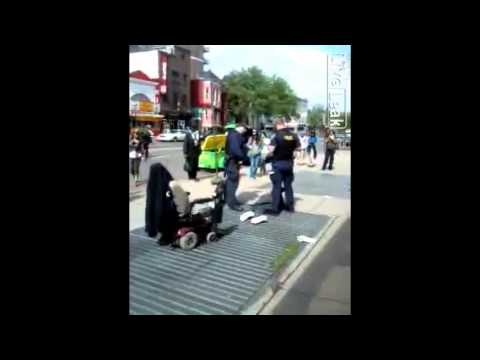 POLICE BRUTALITY - Man In Wheelchair Bodyslammed To The Floor By Terrorist Cops
