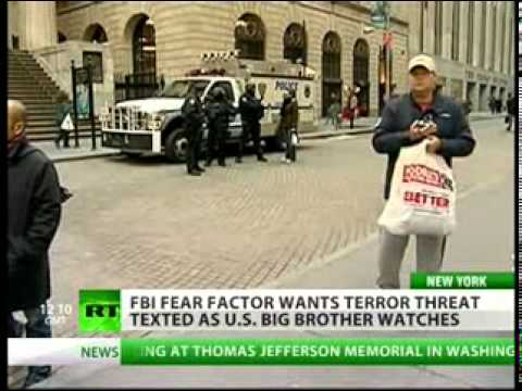 U.S Govt Sends Terrorist Threats To Mobile Phones,Psy-ops Mind Control Brainwashing Public with Fear