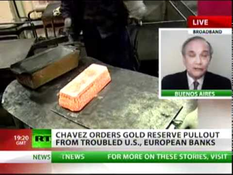Chavez calls back Venezuelan Gold - Interview on Russian Television - 18August2011