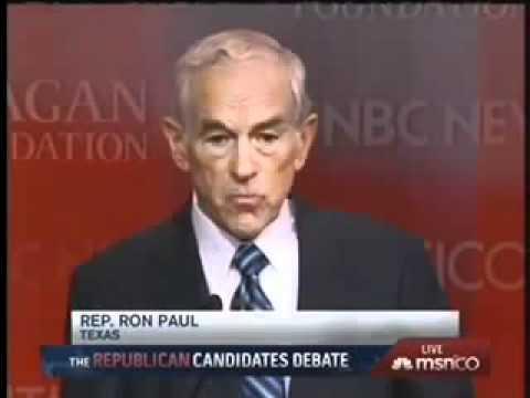 Ron Paul at the GOP Presidential Debate 9 - 7 - 2011