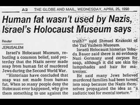 Holocaust survivor lies to school children about 'Jew soap' (Jew soap lie debunked)