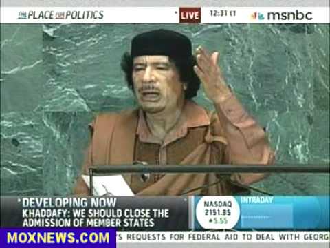 Muammar Gaddafi Speech To United Nations Sept 23, 2009 pt.9