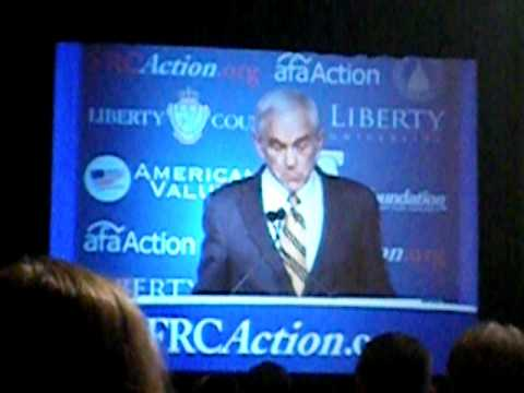 Ron Paul at Values Summit 10/8/2011 Prt. 1