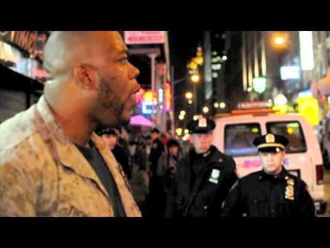 [Occupytimessquare] 1 Marine vs. 30 Cops (Marine Wins)