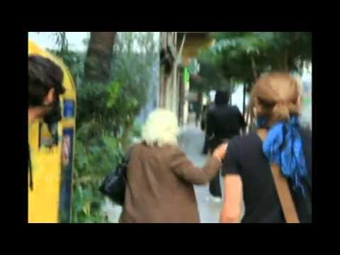 Riot granny GREECE